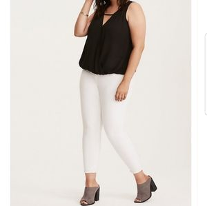torrid Tops - Torrid Georgette Surplice Tank Top